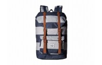 Herschel Supply Co. Little America Mid-Volume Border Stripe/Saddle Brown