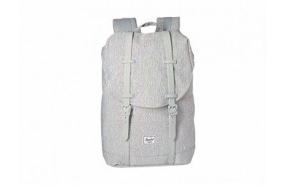 Herschel Supply Co. Retreat Mid-Volume Light Grey Crosshatch/Grey Rubber - Black Friday 2020