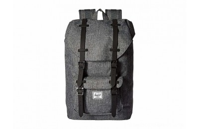 Herschel Supply Co. Little America Mid-Volume Raven Crosshatch/Black Rubber - Black Friday 2020