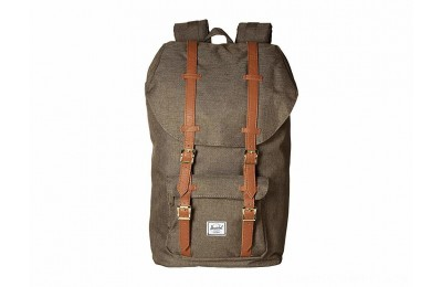 Herschel Supply Co. Little America Canteen Crosshatch/Tan Synthetic Leather - Black Friday 2020