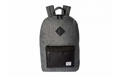 Herschel Supply Co. Heritage Raven Crosshatch/Black/Black Pebbled Leather