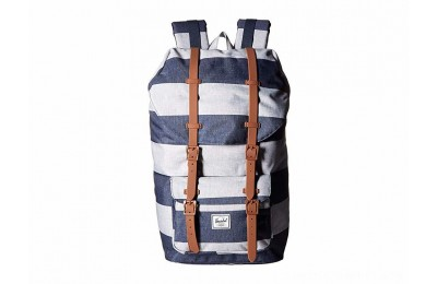 Herschel Supply Co. Little America Border Stripe/Saddle Brown