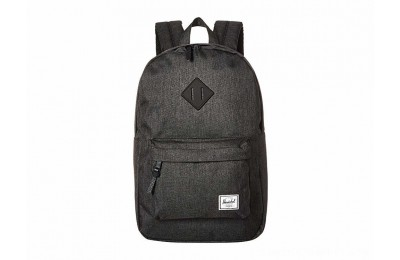 Herschel Supply Co. Heritage Mid-Volume Black Crosshatch/Black Rubber - Black Friday 2020