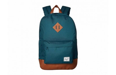 Herschel Supply Co. Heritage Mid-Volume Deep Teal/Tan Synthetic Leather - Black Friday 2020