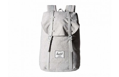 Herschel Supply Co. Retreat Light Grey Crosshatch/Grey Rubber