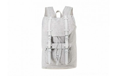 Herschel Supply Co. Little America Mid-Volume Light Grey Crosshatch/Grey Rubber