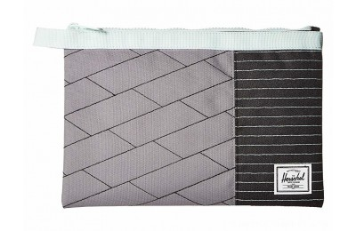 Herschel Supply Co. Network Large Light Grey Crosshatch/Black/Glacier