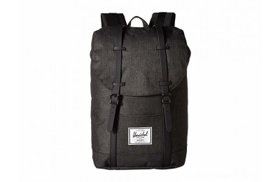 Herschel Supply Co. Retreat Black Crosshatch/Black Rubber - Black Friday 2020