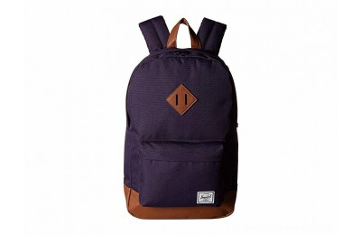 Herschel Supply Co. Heritage Mid-Volume Purple Velvet/Tan Synthetic Leather