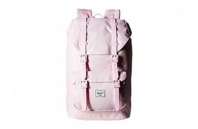 Herschel Supply Co. Little America Mid-Volume Pink Lady Crosshatch