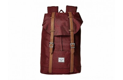 Herschel Supply Co. Retreat Mid-Volume Winetasting Crosshatch/Tan Synthetic Leather