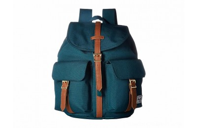 Herschel Supply Co. Dawson X-Small Deep Teal/Tan Synthetic Leather