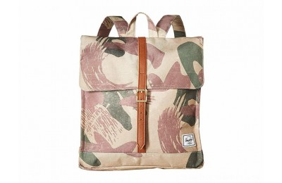 Herschel Supply Co. City Mid-Volume Brushstroke Camo/Tan Synthetic Leather