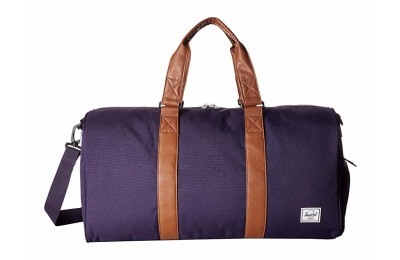 Herschel Supply Co. Novel Mid-Volume Purple Velvet/Tan Synthetic Leather - Black Friday 2020
