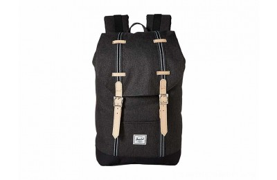 Herschel Supply Co. Retreat Mid-Volume Black Crosshatch/Black - Black Friday 2020