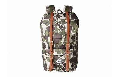 Herschel Supply Co. Little America Frog Camo/Tan Synthetic Leather