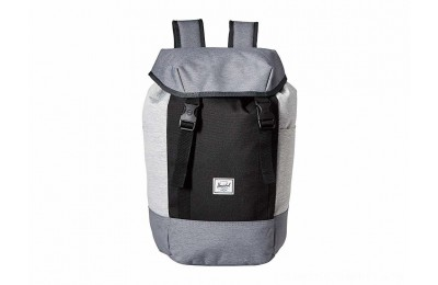 Herschel Supply Co. Iona Mid Grey Crosshatch/Black/Light Grey Crosshatch