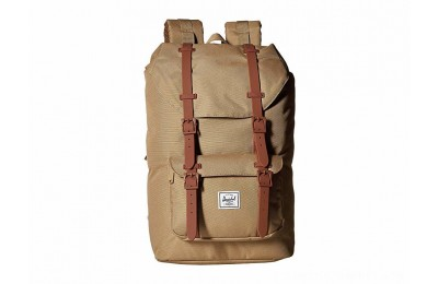 Herschel Supply Co. Little America Mid-Volume Kelp/Saddle Brown