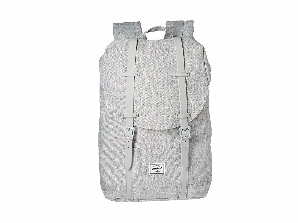 Herschel Supply Co. Retreat Mid-Volume Light Grey Crosshatch/Grey Rubber