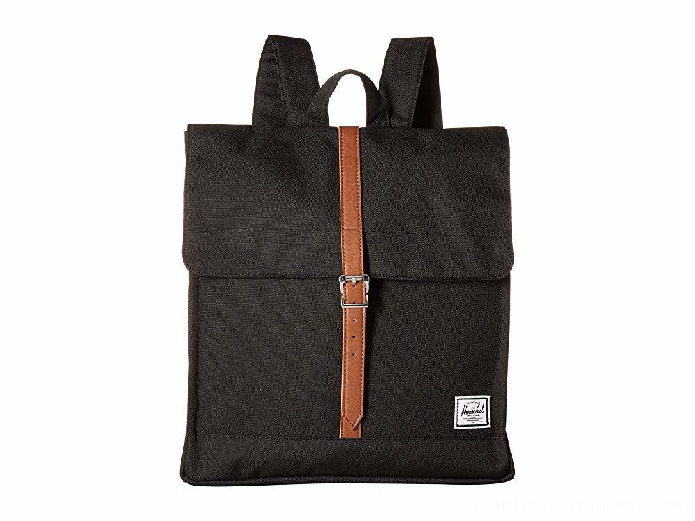 Herschel Supply Co. City Mid-Volume Black/Tan Synthetic Leather