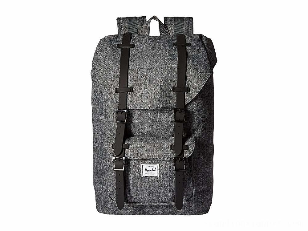 Herschel Supply Co. Little America Mid-Volume Raven Crosshatch/Black Rubber