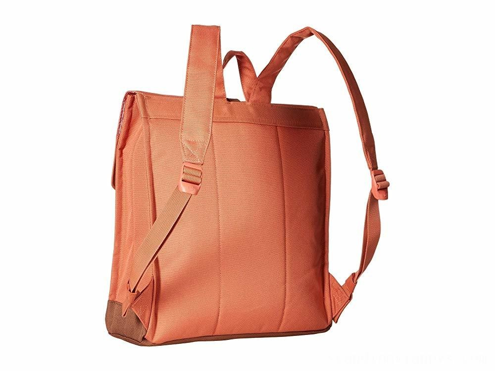 Herschel Supply Co. City Mid-Volume Apricot Brandy/Saddle Brown