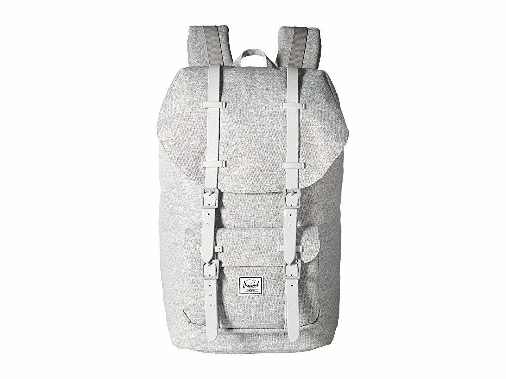 Herschel Supply Co. Little America Light Grey Crosshatch/Grey Rubber
