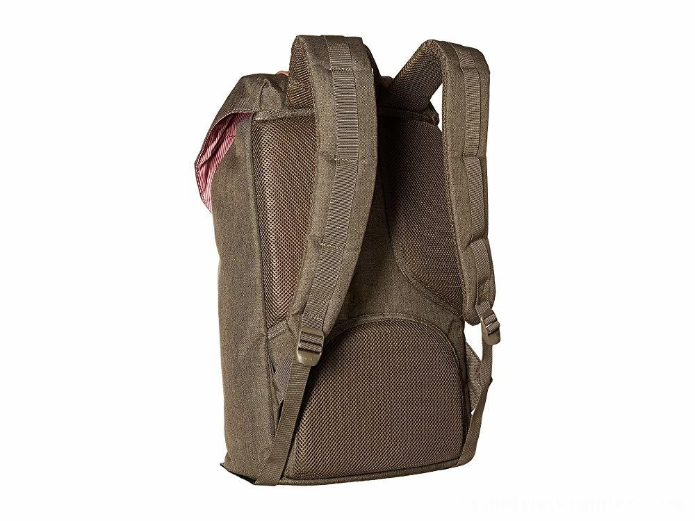 Herschel Supply Co. Little America Canteen Crosshatch/Tan Synthetic Leather