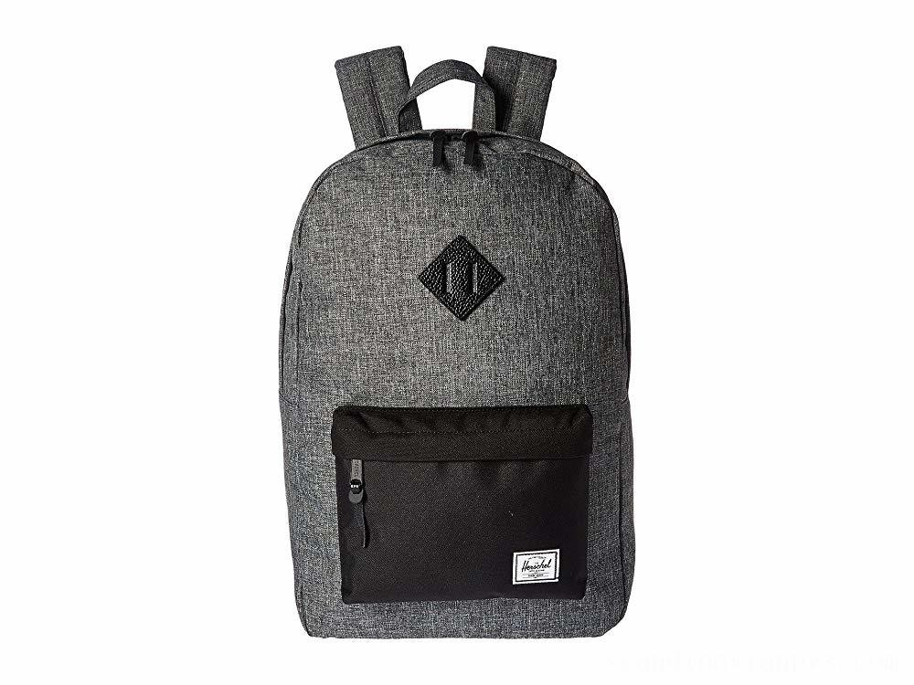 Herschel Supply Co. Heritage Raven Crosshatch/Black/Black Pebbled Leather - Black Friday 2020