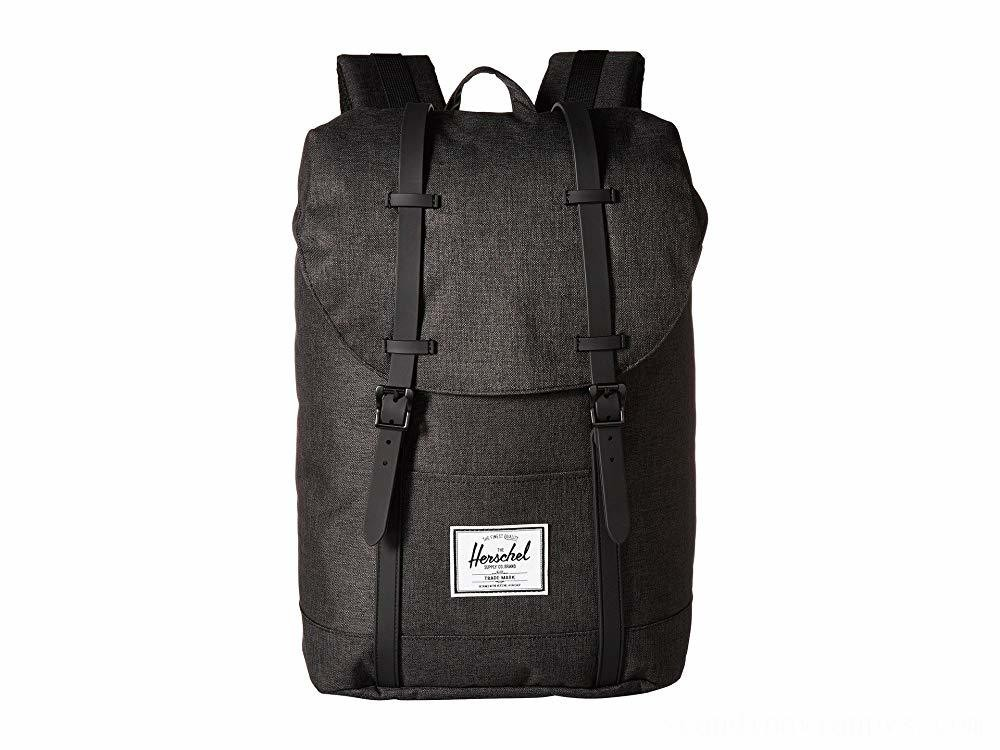 Herschel Supply Co. Retreat Black Crosshatch/Black Rubber