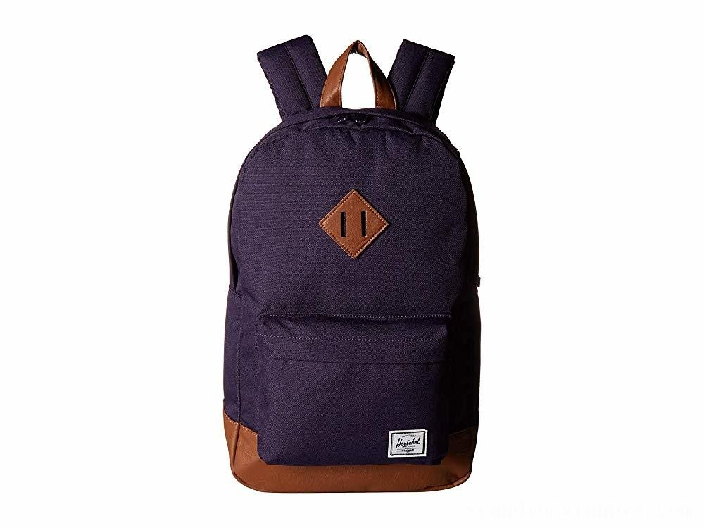 Herschel Supply Co. Heritage Mid-Volume Purple Velvet/Tan Synthetic Leather - Black Friday 2020