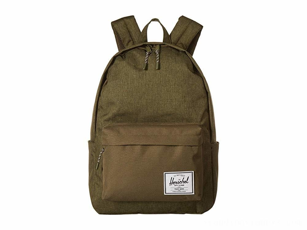 Herschel Supply Co. Classic X-Large Olive Night Crosshatch/Olive Night