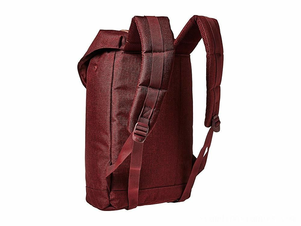 Herschel Supply Co. Retreat Mid-Volume Winetasting Crosshatch/Tan Synthetic Leather - Black Friday 2020