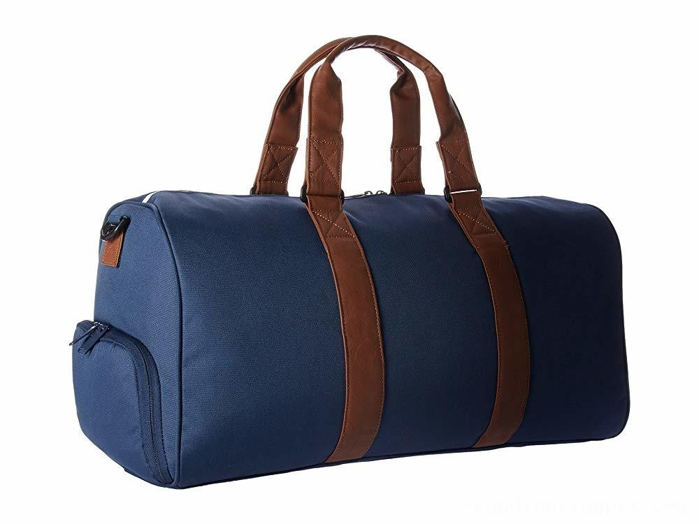Herschel Supply Co. Novel Mid-Volume Navy/Tan Synthetic Leather