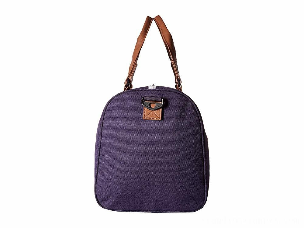 Herschel Supply Co. Novel Mid-Volume Purple Velvet/Tan Synthetic Leather