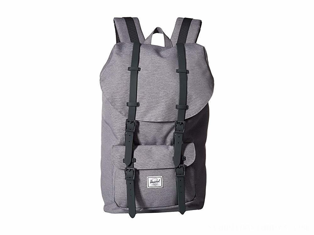 Herschel Supply Co. Little America Mid Grey Crosshatch