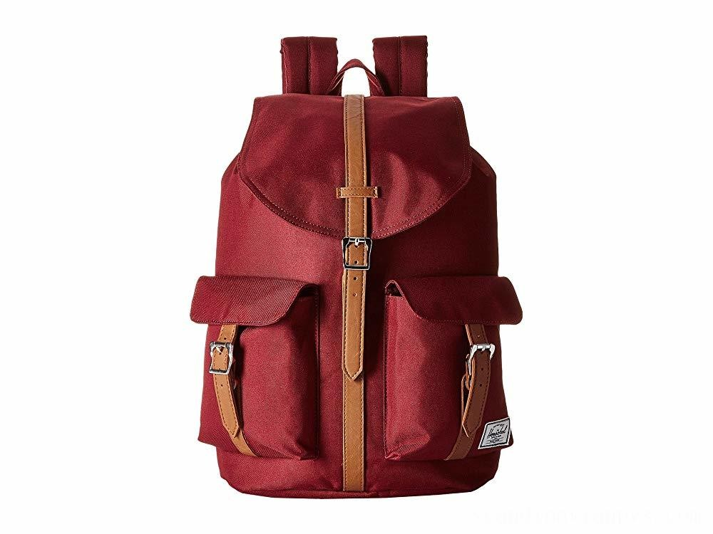 Herschel Supply Co. Dawson Windsor Wine/Tan Synthetic Leather