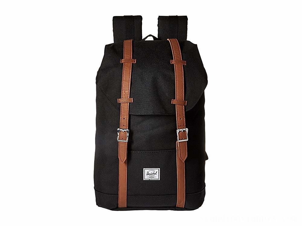 Herschel Supply Co. Retreat Mid-Volume Black/Tan Synthetic Leather