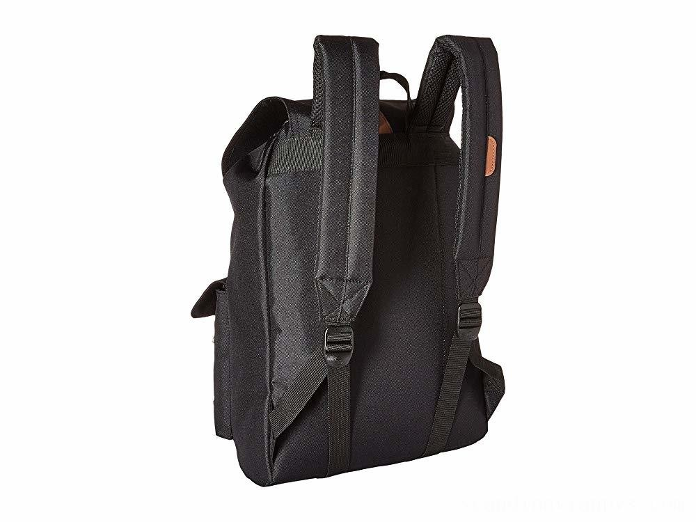 Herschel Supply Co. Dawson Black/Tan Synthetic Leather